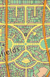 Layout of Hillfields Estate
